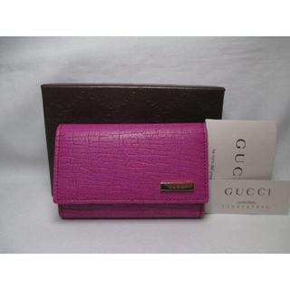 Gucci - 未使用 GUCCI グッチ 6連キーケース 革 パープル ラッピングOK