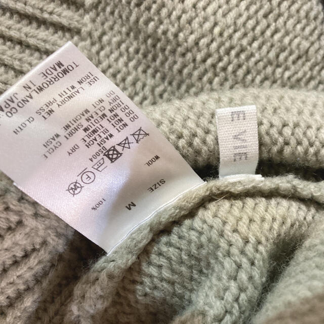 TOMORROWLAND(トゥモローランド)のGALERIRE VIE ギャルリーヴィー ファインウールタートルニット M  レディースのトップス(ニット/セーター)の商品写真