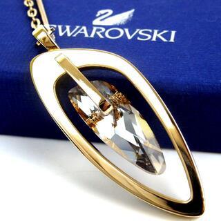 SWAROVSKI - スワロフスキー 美品 大ぶりストーン ネックレス 箱付 クリスタル 17-324