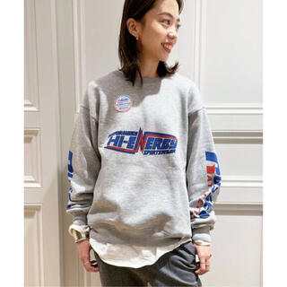 DEUXIEME CLASSE - MUSE  RUSSEL ATHLETICSバックプリントスウェット