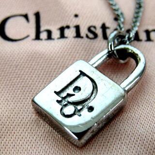 Christian Dior - クリスチャンディオール パドロックモチーフ ロゴ ネックレス 17-448