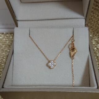 PonteVecchio - ポンテヴェキオ K18 YGフラワーネックレス ダイヤモンド0.15カラット