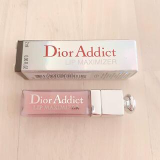 ディオール(Dior)のDior Addict リップマキシマイザー ミニ 001 ピンク (リップグロス)