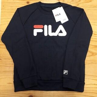 フィラ(FILA)の新品タグ付き 紺 レディース フィラ スウェットトレーナー (トレーナー/スウェット)