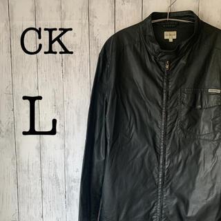 シーケーカルバンクライン(ck Calvin Klein)の【レザージャケット×CK】カルバンクライン メンズ レザージャケット ★ブラック(レザージャケット)