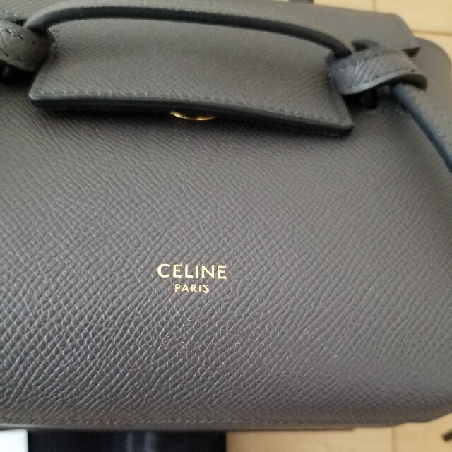 celine(セリーヌ)のなな様 CELINE ベルト バッグ ピコ グレー pico トリオンフ バック レディースのバッグ(ショルダーバッグ)の商品写真