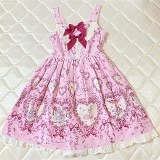 BABY,THE STARS SHINE BRIGHT - BABY アリス柄ジャンパースカート ピンク