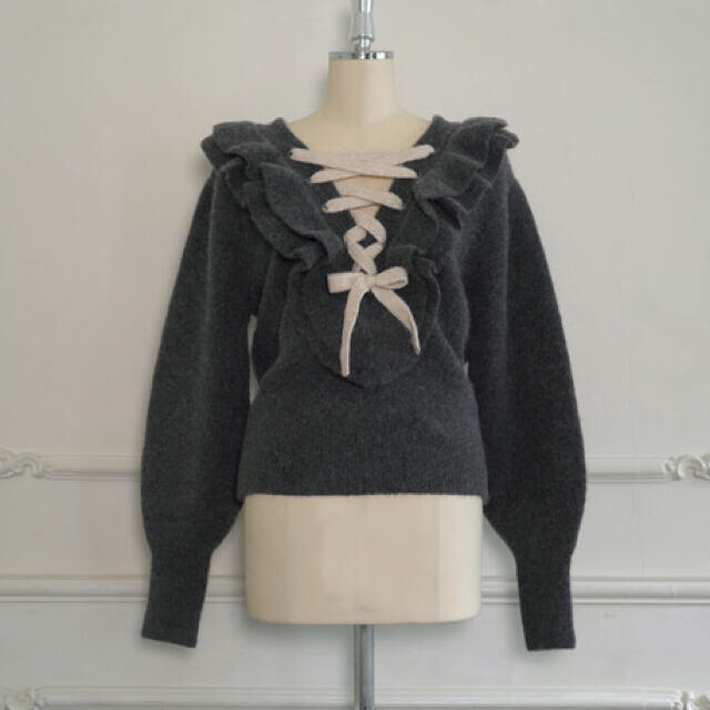 snidel(スナイデル)のherlipto ハーリップトゥ リボンニットプルオーバー レディースのトップス(ニット/セーター)の商品写真