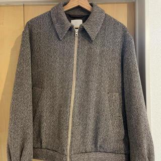 COMOLI - Arles Wool Tweed Harrington Jacket 3