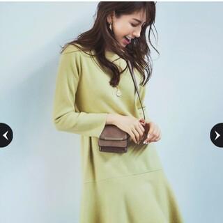 JUSGLITTY - 美品💗ジャスグリッティー裾フレアミラノリブワンピース