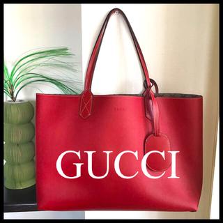 Gucci - 新品正規品 GUCCI グッチ GGスプリーム リバーシブルトートバッグ 赤