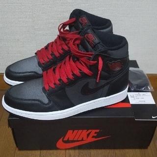 NIKE - Nike Air jordan1 Retro High Black Satin
