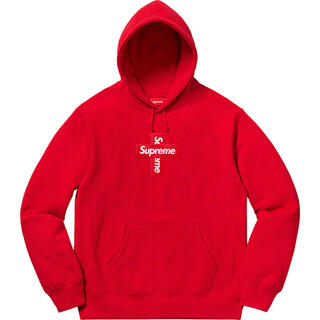 Supreme - M Cross Box Logo Hooded Sweatshirt