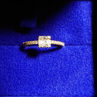 agete - ベルシオラ K18 スクエアダイヤモンドリング