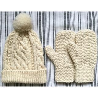 フリークスストア(FREAK'S STORE)の【未使用】cholon ウール100% ニット帽+手袋セット(ニット帽/ビーニー)