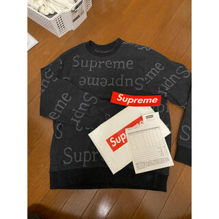 Supreme - supreme ロゴクルーネック