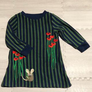 Design Tshirts Store graniph - トレーナーワンピース 90 グラニフ フレデリック