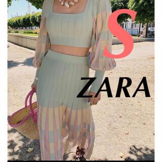 ZARA - ZARA ザラ スカート プリーツニットスカート
