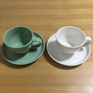 スタディオクリップ(STUDIO CLIP)の【新品・未使用】マグカップ・お皿 ペアセット(グラス/カップ)