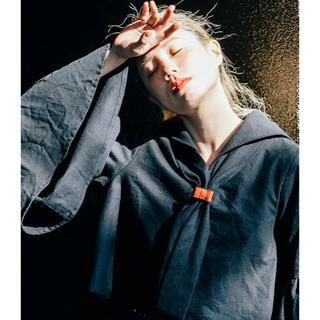 """ロキエ(Lochie)の """"himawari"""" sailor collar blouse black(シャツ/ブラウス(長袖/七分))"""