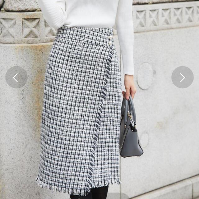 tocco(トッコ)のツイードスカート レディースのスカート(ロングスカート)の商品写真