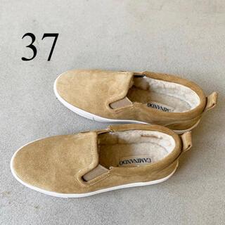 アパルトモンドゥーズィエムクラス(L'Appartement DEUXIEME CLASSE)の新品☆アパルトモン CAMINANDO Mouton Sneakers 37(スリッポン/モカシン)
