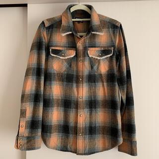 ピーピーエフエム(PPFM)のネルシャツ ボア チェックシャツ (シャツ)