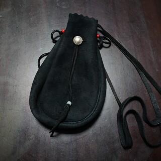 ゴローズ(goro's)のゴローズ 巾着バッグ 黒 BLACK ブラック 巾着ポーチ L  新品未使用(ショルダーバッグ)