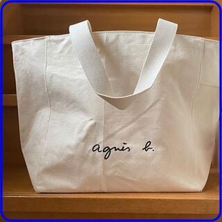 agnes b. - アニエスベーボヤージュ コットントートバッグ《Lサイズ》シンプルな大きめサイズ