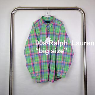 Ralph Lauren - 90s USA古着 ラルフローレン ビッグサイズ チェックシャツ 3XL ポニー