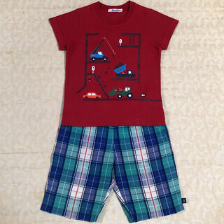 familiar - familiar   働く車Tシャツ&ハーフパンツ  size100.110cm