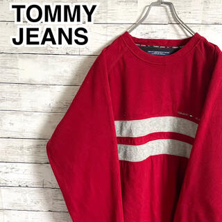 トミーヒルフィガー(TOMMY HILFIGER)の【大人気】トミーヒルフィガー☆刺繍ワンポイントロゴ フリース スウェット(スウェット)