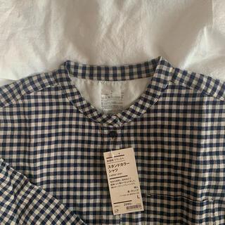 MUJI (無印良品) - 新品未使用 無印良品 フランネルスタンドカラーシャツ L