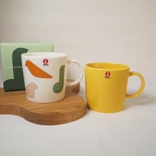 イッタラ(iittala)の【新品】iittala ミナペルホネン コラボ マグカップ&ティーマ(ハニー)(食器)