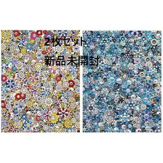 2枚セット 村上隆 お花ドクロ ポスター ゼロワン カイカイキキ Zingaro(版画)