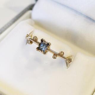 アベリ サファイア ダイヤモンド リング 11.5号 k18