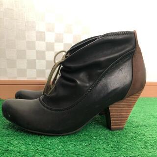 サヴァサヴァ(cavacava)のサヴァサヴァ ショート ブーツ 25センチ 黒(ブーティ)