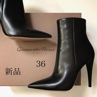 ジャンヴィットロッシ(Gianvito Rossi)の国内正規品137,500円 ジャンヴィット ロッシ ブーツ 新品/36 ブラック(ブーツ)