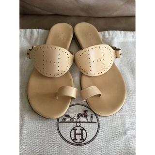Hermes - HERMES サンダル エルメス シューズ エヴリン ベージュ エブリン 靴