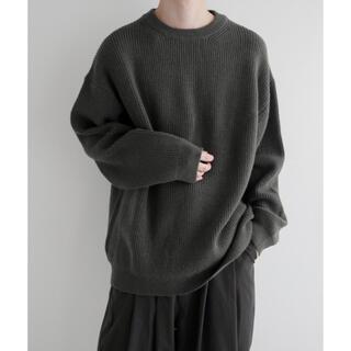 remer (リメール) loose crew neck knit オリーブ M