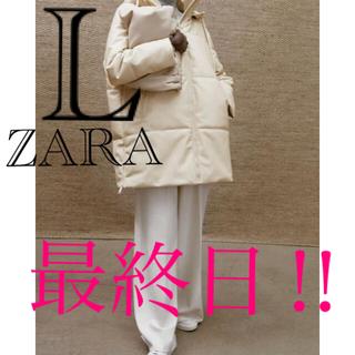 ZARA - フェイクレザーパフジャケット