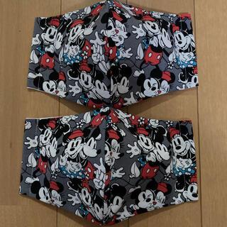 ディズニー(Disney)の最新柄❣️大人グレー ラブミッキー&ミニー 大人カラーマスク(その他)