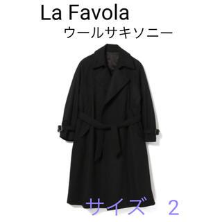 ビームス(BEAMS)のLa Favola / サキソニーウール ラップコート サイズ2(トレンチコート)