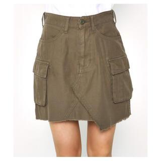 ロデオクラウンズ(RODEO CROWNS)のロデオクラウンズ カーキスカート Sサイズ(ミニスカート)