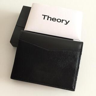 theory - 新品未使用 Theory ノベルティ 非売品 カードケース 名刺入れ 黒