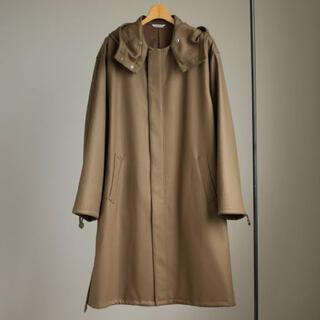 コモリ(COMOLI)のAURALEE LIGHT MELTON LONG HOODED COAT(ステンカラーコート)