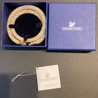SWAROVSKI - 【美品】Swarovski スターダスト デラックス ブレスレット ゴールド