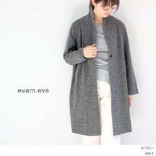 エヴァムエヴァ(evam eva)のevam evaウールロングジャケット タグつき(ロングコート)