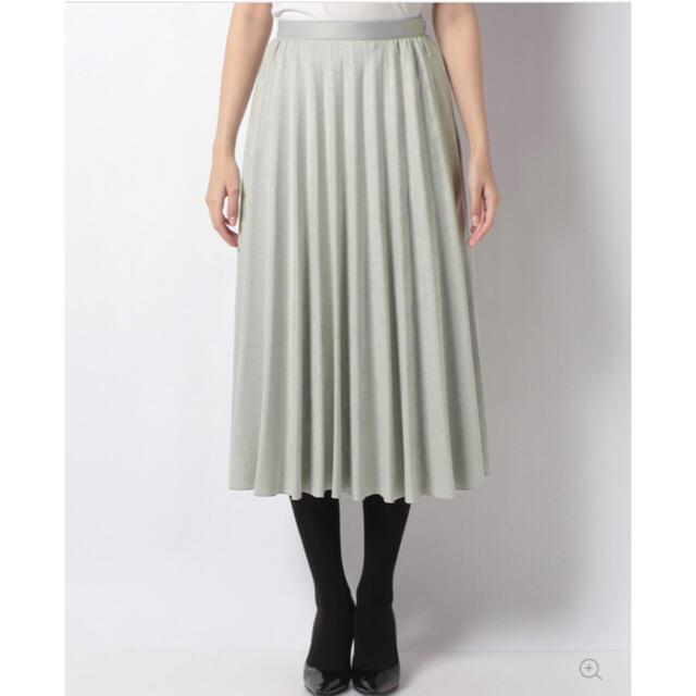 ANAYI(アナイ)のANAYI スエードチョウフレアプリーツスカート レディースのスカート(ひざ丈スカート)の商品写真