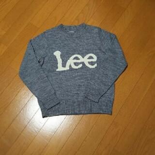 リー(Lee)の美品 Lee ロゴニット グレー(ニット/セーター)